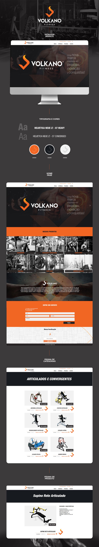 Redesign de Marca & Website - Volkano Equipamentos Fitness